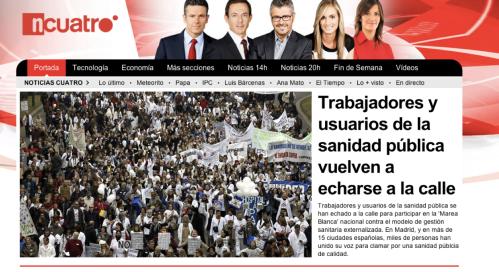 Portada de Noticias Cuatro a las 17:00 del 17/02/13