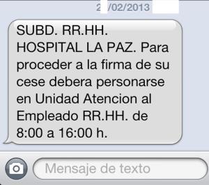 El SMS