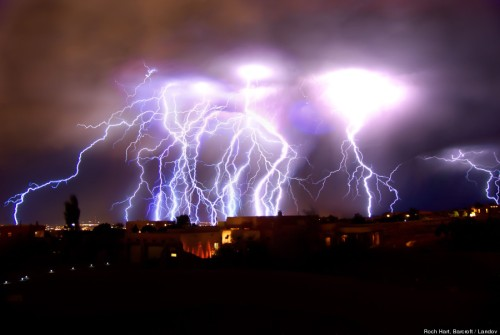 AMAZING LIGHTNING STORM OVER ALBUQUERQUE