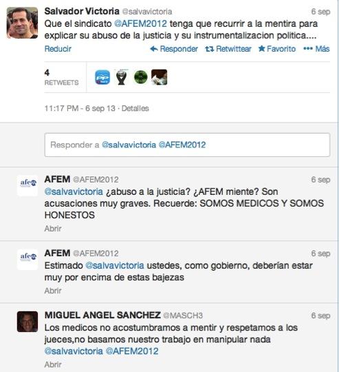 Salvador Victoria acusa a AFEM de mentir